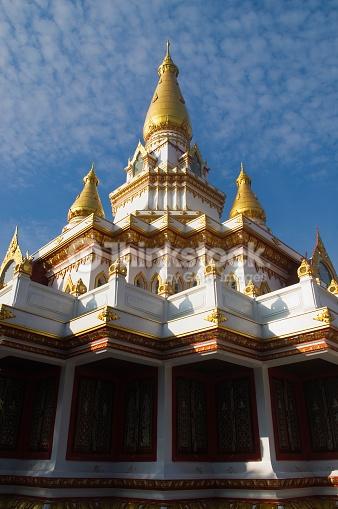 The great pagoda (Maha Jedi) of Wat Buddha Bucha temple, Bangkok, Thailand.