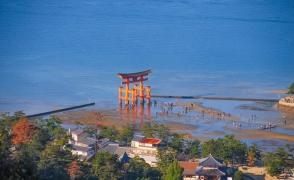 Храм Ицукусима, гора Мисен