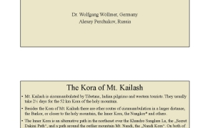 The Spiral Kora of Mt. Kailash Dr. Wolfgang Wöllmer, Germany;Alexey Perchukov, Russia